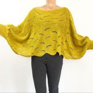 Extreme Oversized Crochet Sweater